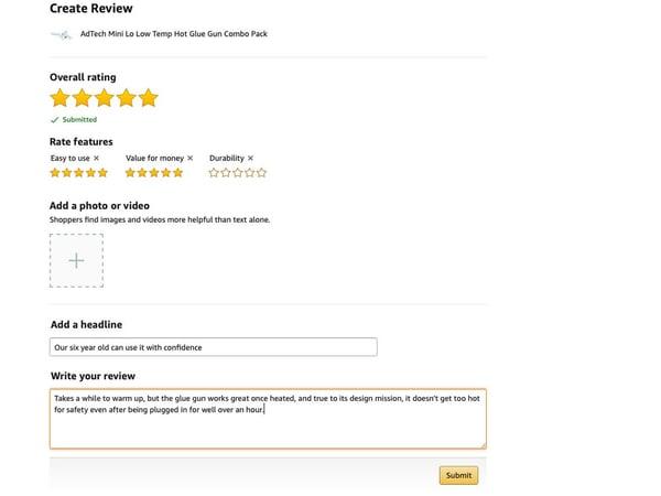 hjælp til Amazon anmeldelser