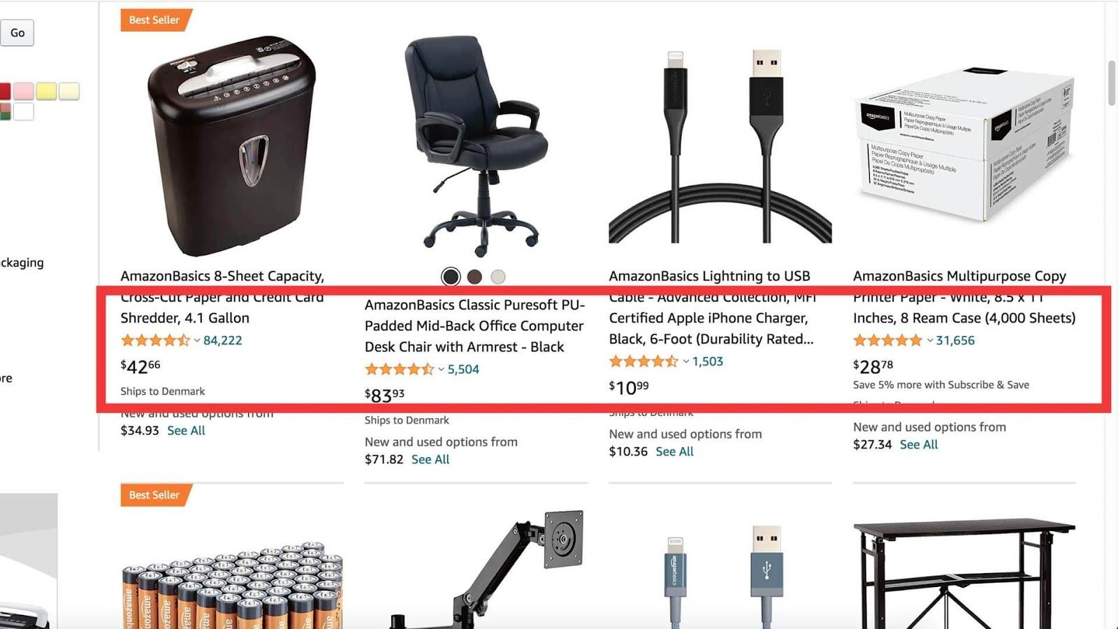 Produkt anmeldelser på Amazon