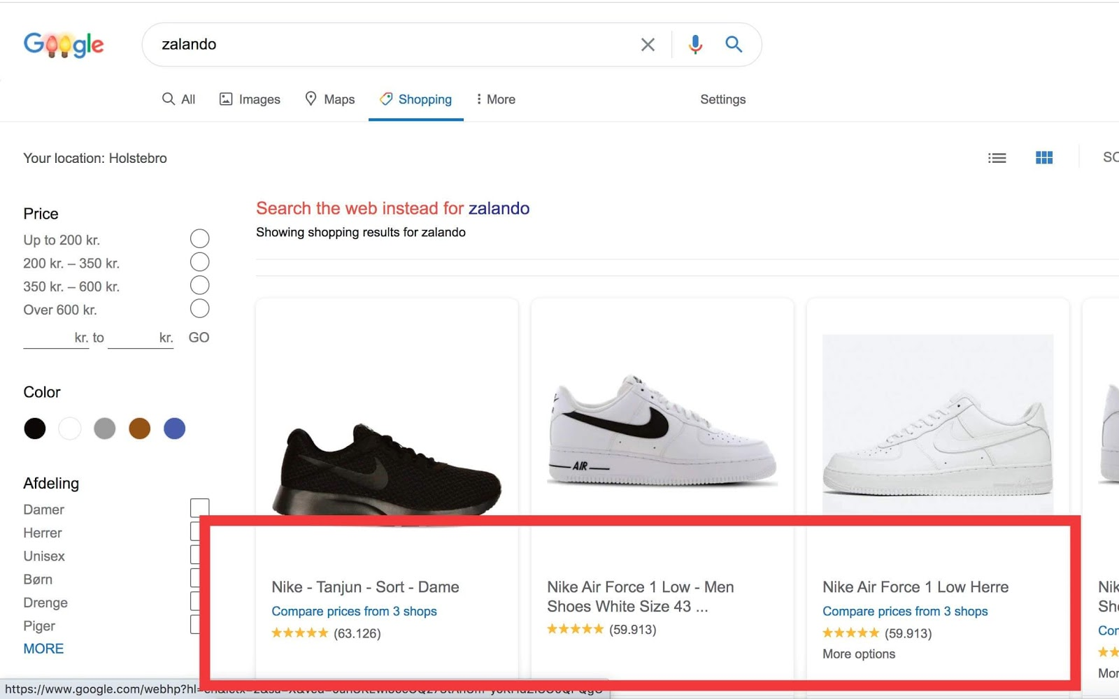 Anmeldelser i Google Shopping