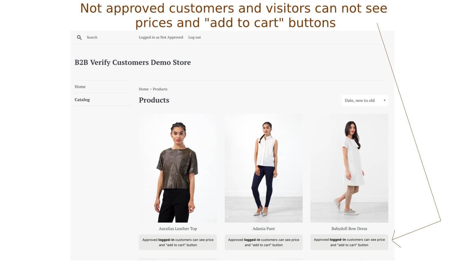 B2B verify customers app fra Shopify